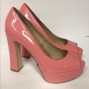 Steve Madden Patent Leather Pink Platform Heels